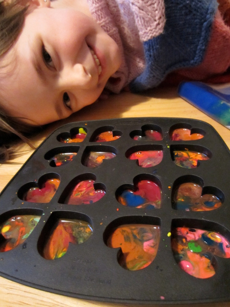 Valentine's Day Crayons (Recycled Crayon Hearts)  (6/6)