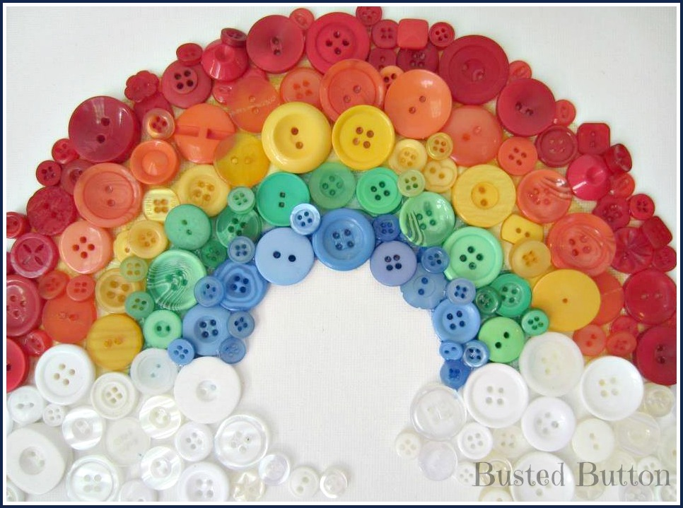 pinterest diy picture frame ideas - Over the [Button] Rainbow