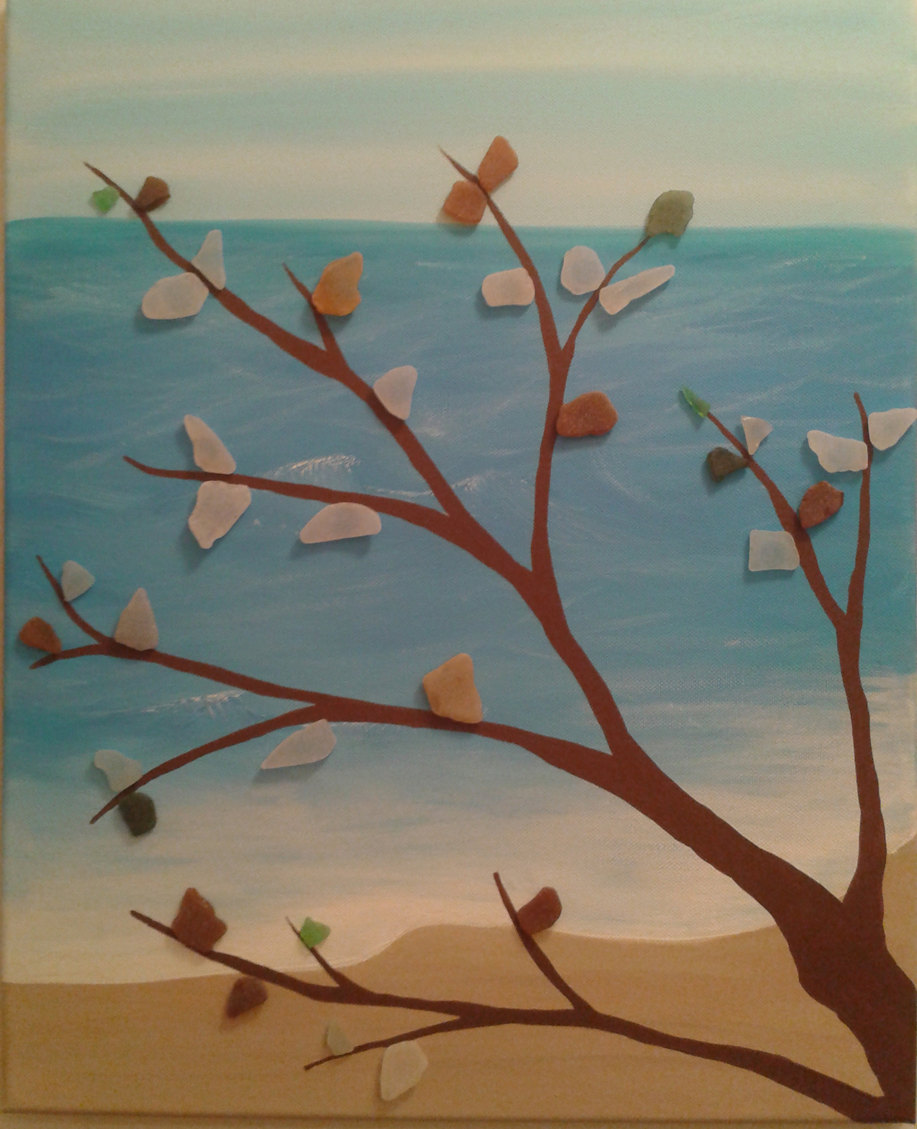 aqua sea glass art - nve media