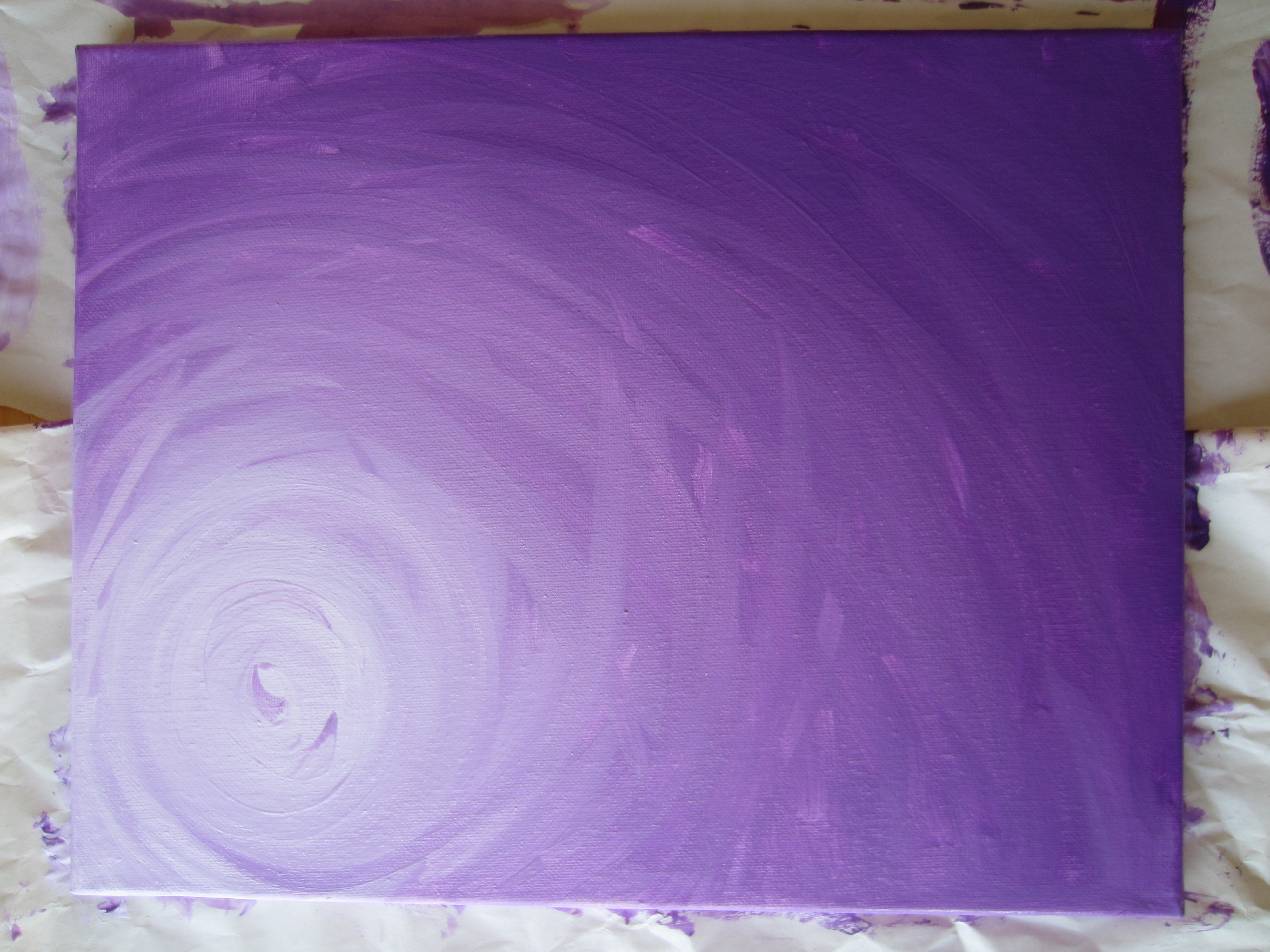 Blending Oil Paint On Canvas