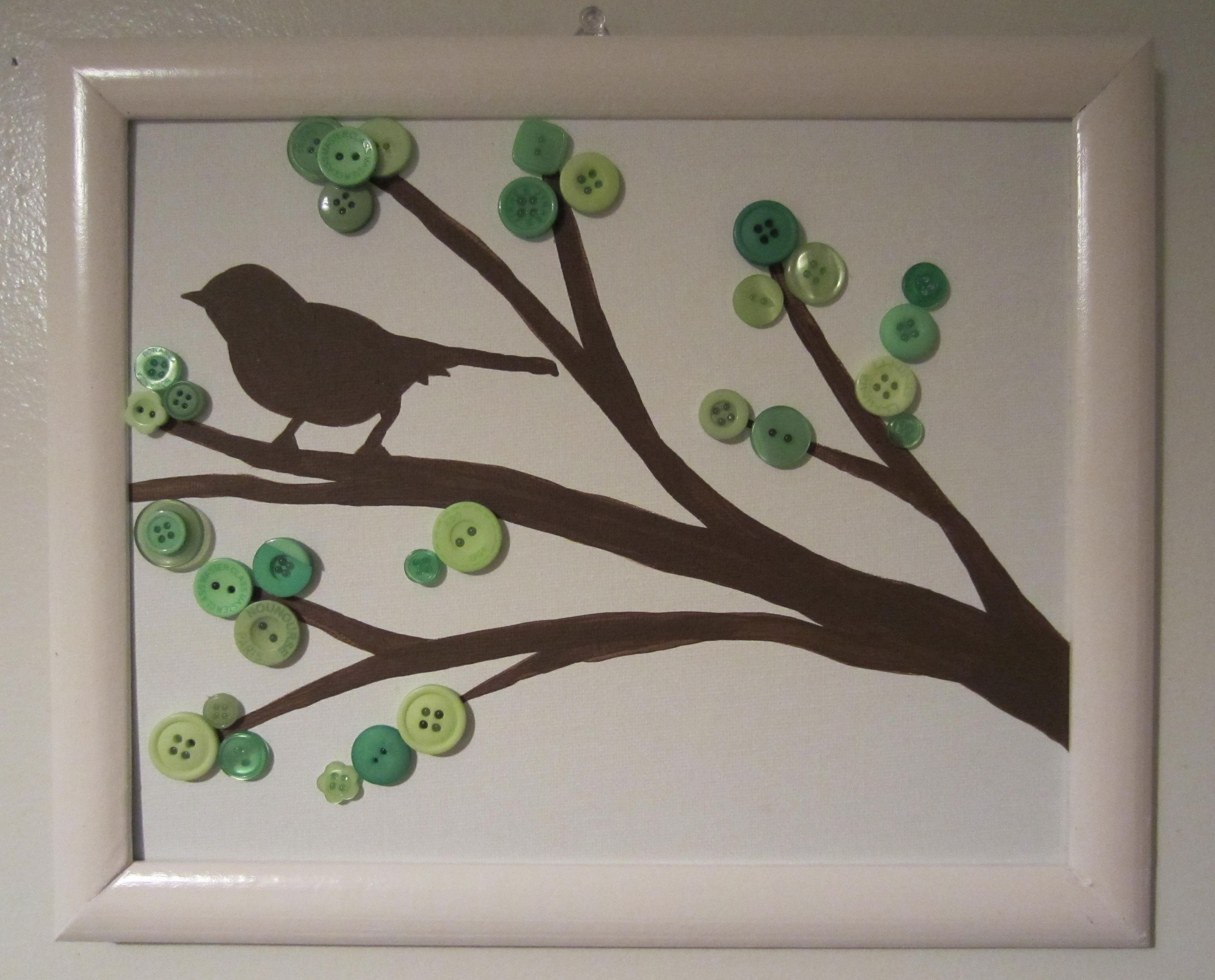 Little Brown Bird Busted Button