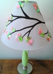 Button branch lampshade