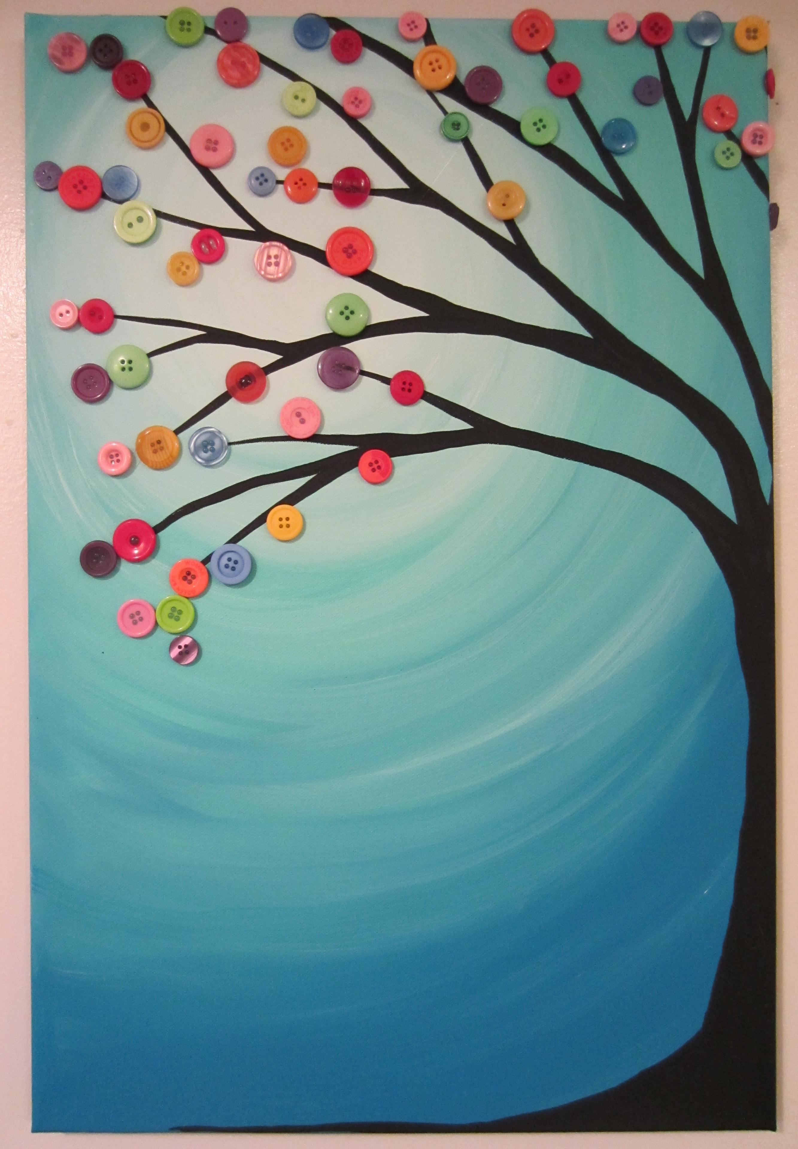 Crayon Art Tree Gallery