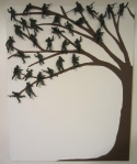 """Bogies in the Trees"" or ""Tree of Strife"" if you want to get serious... in any case, army men make great leaves ;)"