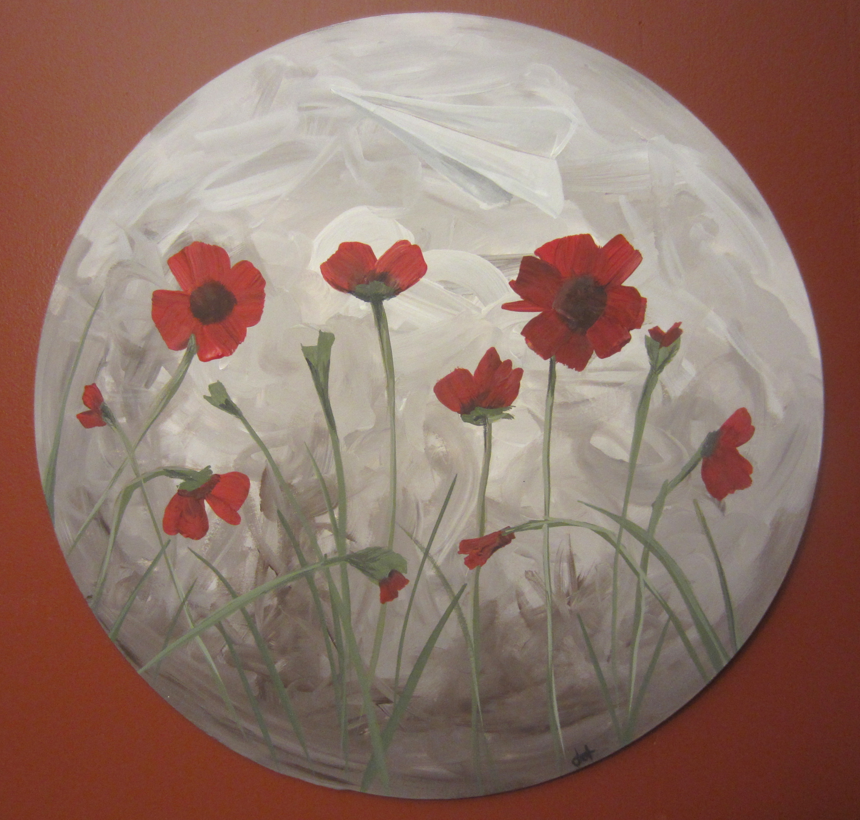 How to paint poppies part one the background busted for 1 day paint