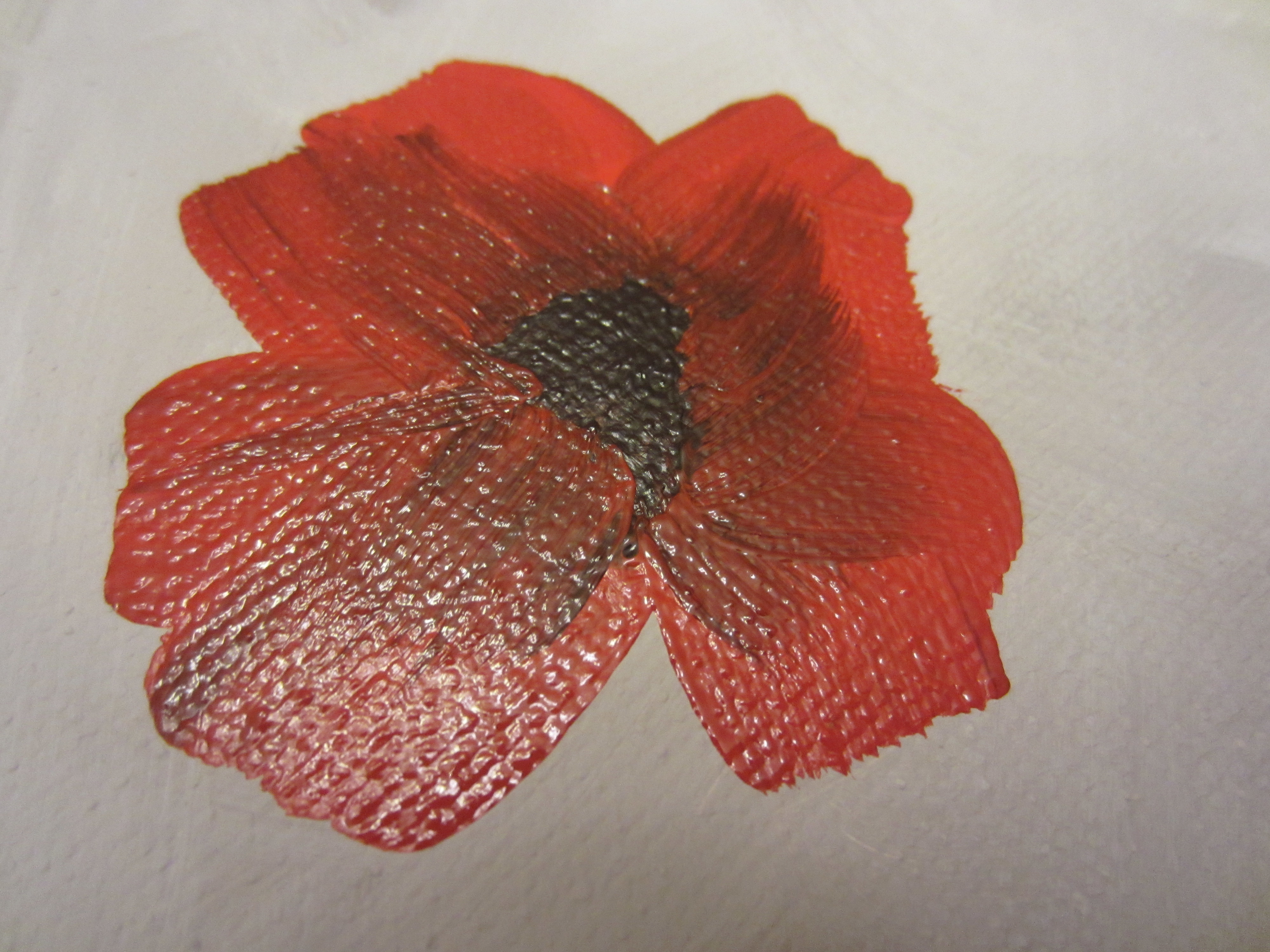 How to paint poppies part two the flowers busted button just mightylinksfo