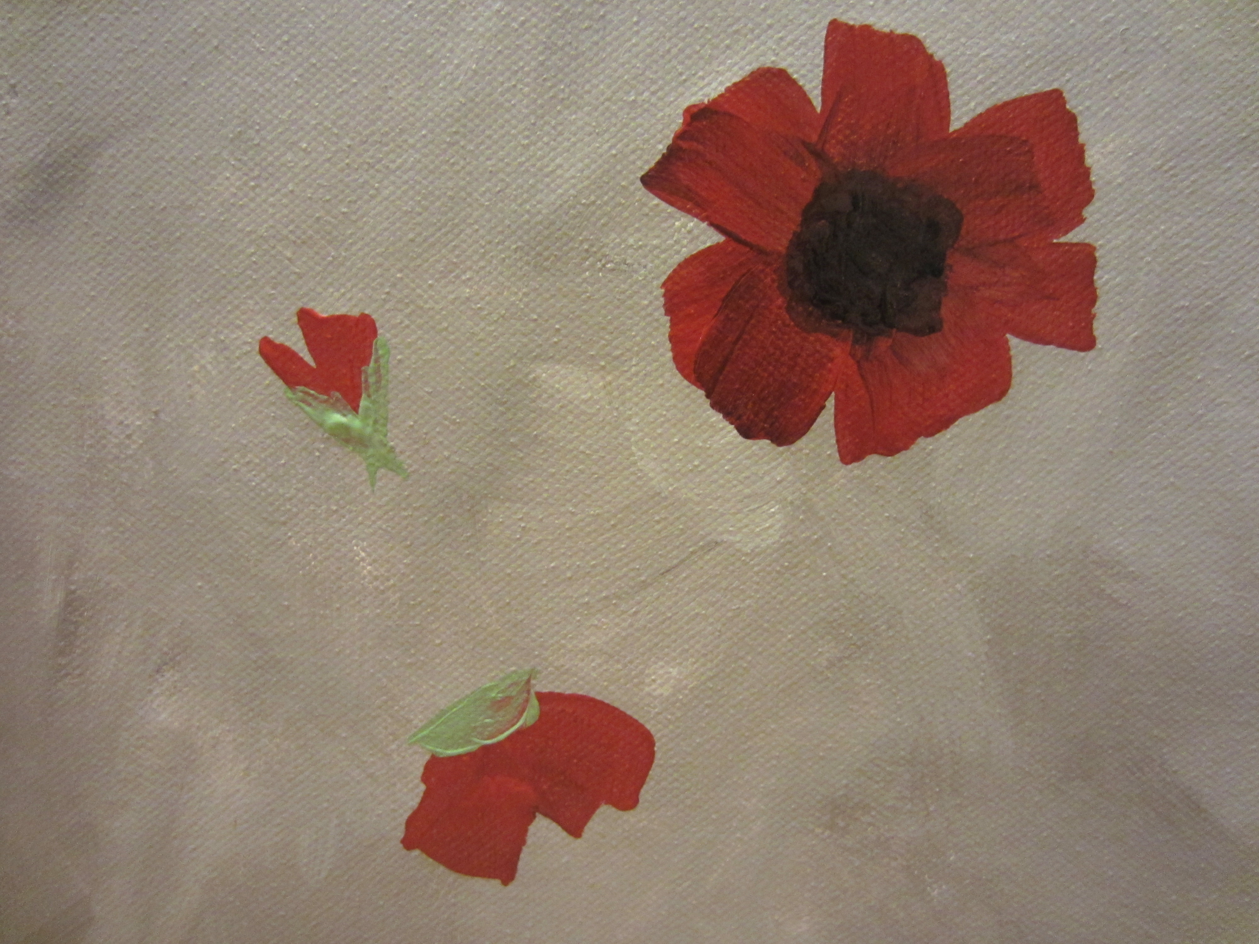 How To Paint Poppies Part Three The Stems And Paper Plane