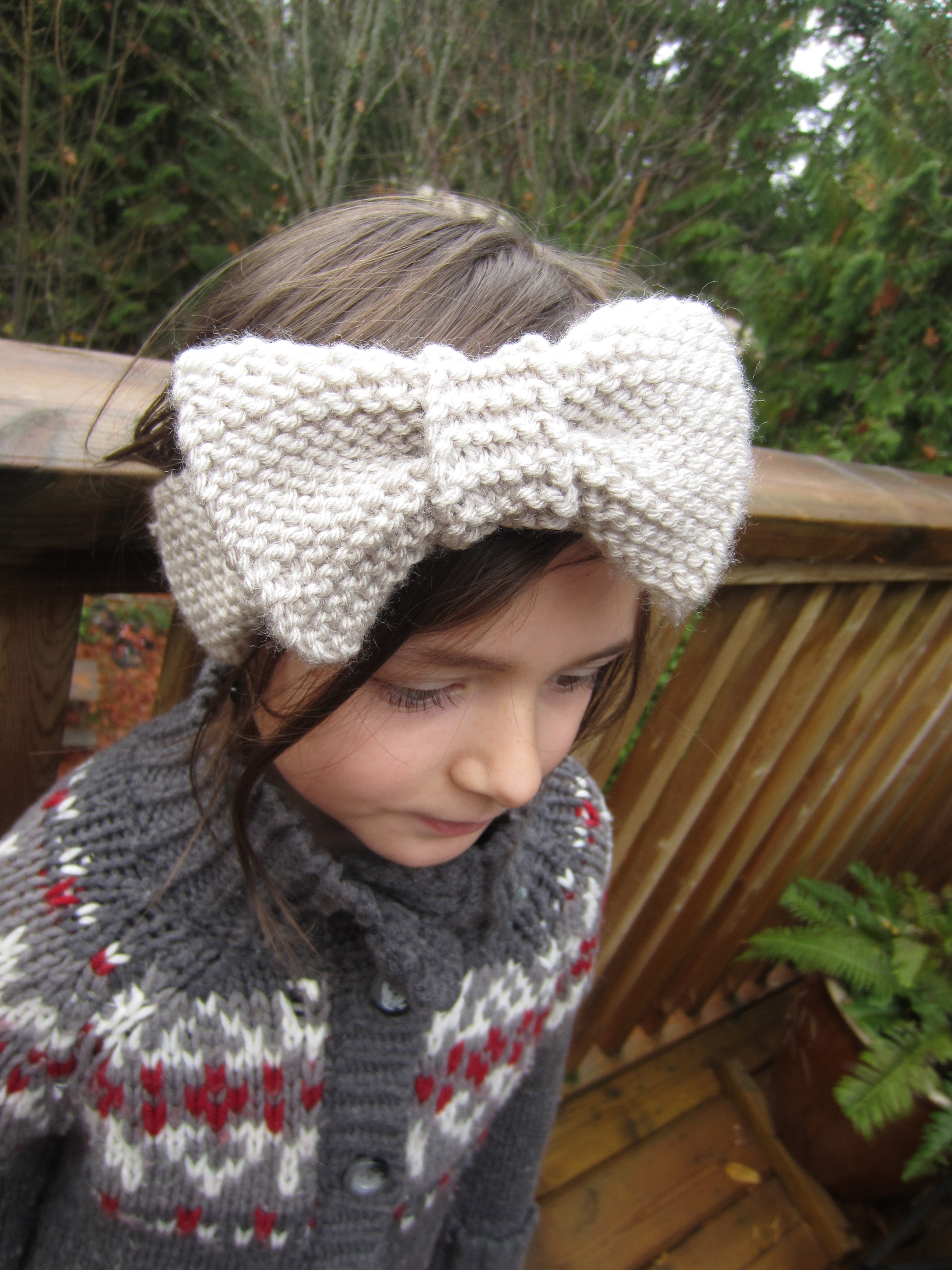 Knitted Bow Headband | Busted Button