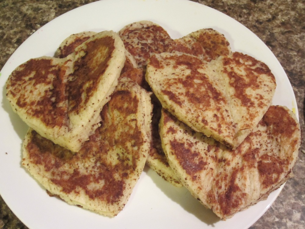 Heart-Shaped French Toast (and Dark Chocolate Orange Bread Pudding) (1/6)