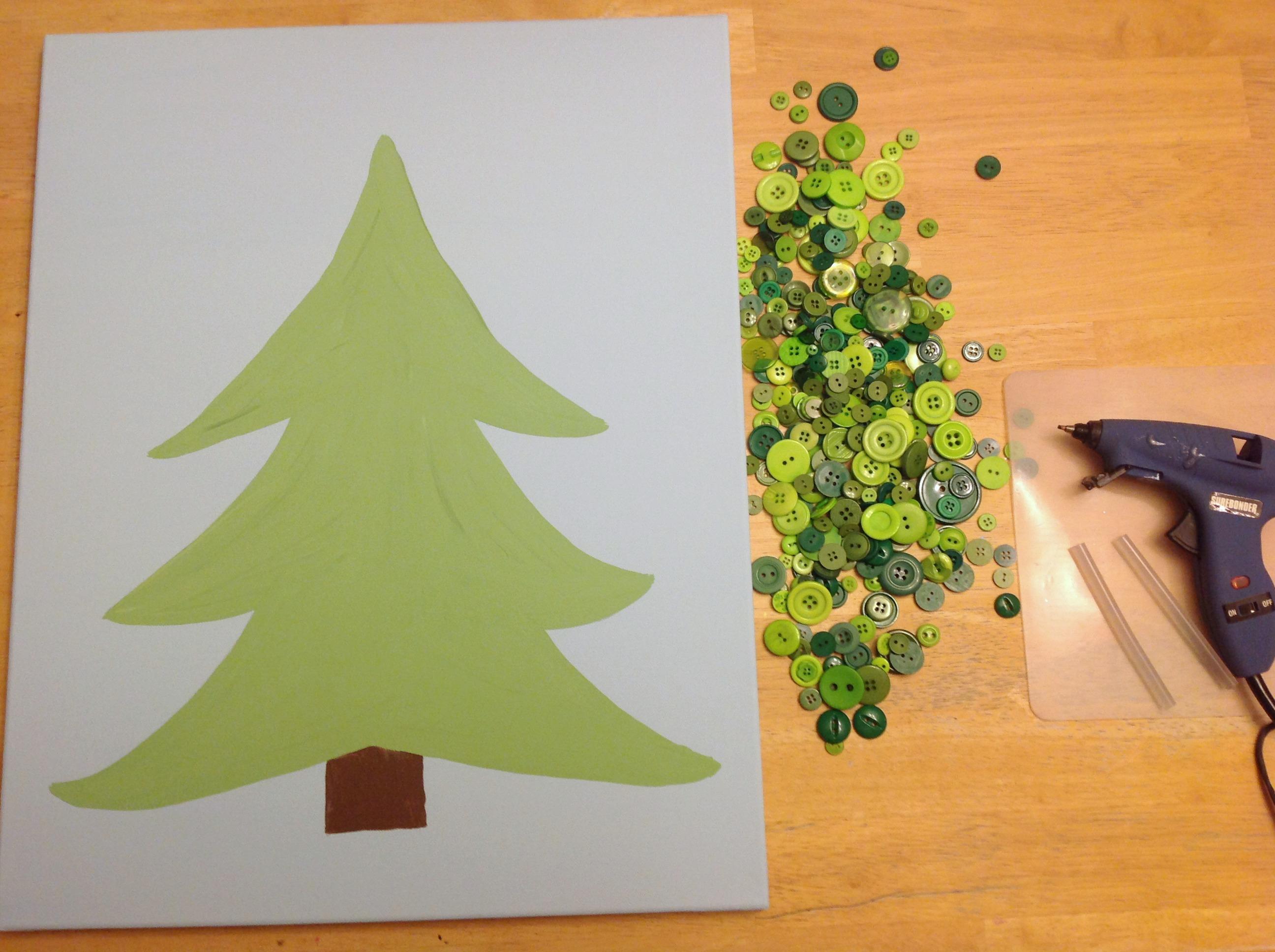 Button Christmas Tree Tutorial